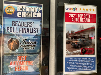 Bozeman's Choice and Google top rated shop.